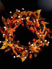 Fall Silk Wreath #2 Silk Door Piece