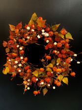 Fall Silk Wreath #1 Silk Door Piece