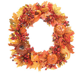 "Fall Silk 24"" Wreath Home Decor in Whitesboro, NY 