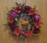 Fall silk wreath with pumpkin Silk wreath