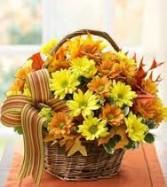 Fall Simplicity  Basket Arrangement