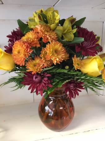Fall Small Vase Arrangement