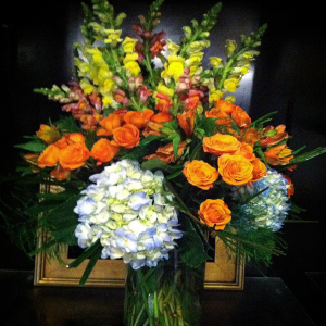Fall Splash Large Vase Arrangement in Bethel, CT | BETHEL FLOWER MARKET OF STONY HILL