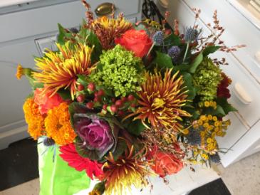 Fall Splender Vase Arrangement