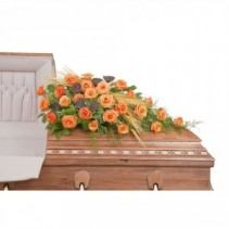 Fall Splendor Casket Spray Spray