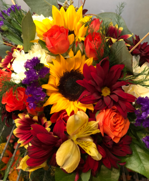 Fall Splendor - Custom Design Basket Arrangement in Bristol, VT | Scentsations Flowers & Gifts