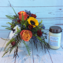 Fall Splendor with Candle