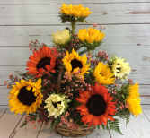 Fall Sunflower Basket