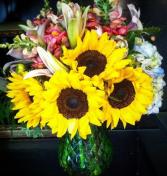 Fall Sunflower Bouquet Fall vase arrangement