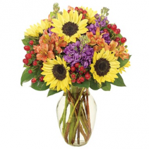 Fall Sunflower Brilliance Arrangement