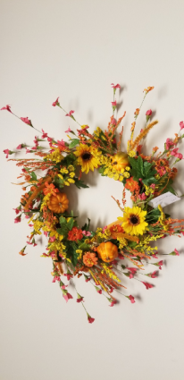 Fall Sunflower Wreath Silk decor