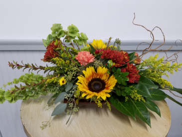 Fall Sunflowers Centerpiece