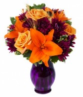 Fall Sunset Celebration  Vased Arrangement