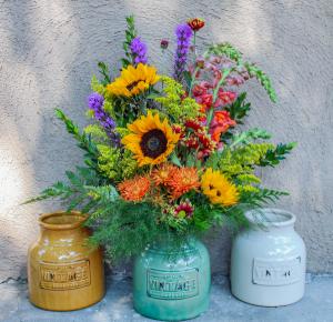Fall Surprise Vintage Vase Arrangement  in Biloxi, MS | Rose's Florist