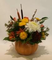 Fall-tastic! Ceramic Pumpkin Arrangement