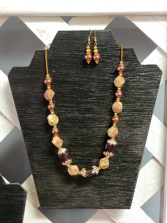 Fall themed necklace & ear rings