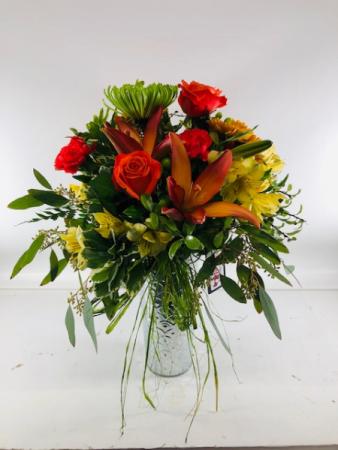 Fall Tin Vase Arrangement Vase Arrangement