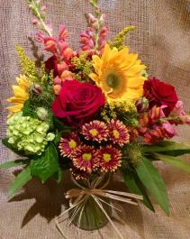 Colorful vase arrangement Vase arrangement