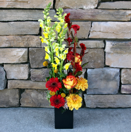 Fall Vertical Design Flowers for the Office