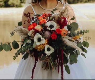 Fall Wildflower Boho  Wedding Bouquet