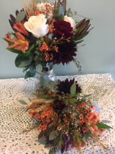 Fall Wedding Bouquet and Centerpiece
