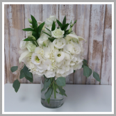 Bright  White Vase Arrangement