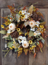 Fall Wildflowers Wreath