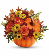 Fall Wishes Pumpkin Arrangement
