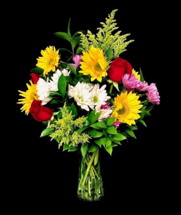 Fall Wishes Sunflowers with Rose Mix