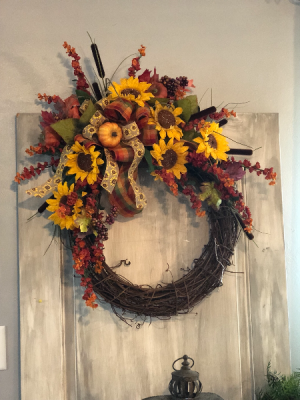 Fall Wreath  in Albany, GA | WAY'S HOUSE OF FLOWERS