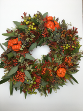Fall Wreath With Fresh Foliage