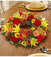Fall Wreath Centerpiece