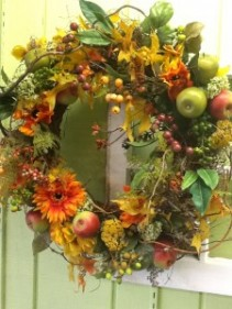 Fall Wreath Dried and Silk wreath
