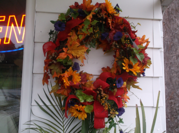 fall wreath grapevine wreath
