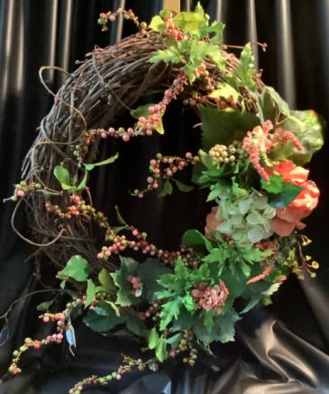 Fall Wreath WF-F001 Fall Grapevine Wreath