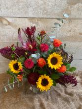 Falling for Fall Vase Arrangement
