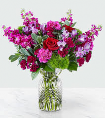 Falling For You Bouquet FTD Vase Arrangement