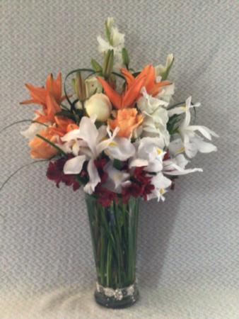 Falling for you. Vase arrangement