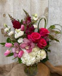 Falling In Love Vase Arrangement