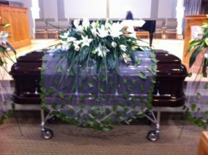 Falling Leaves Casket Spray Sympathy in Holland, MI | FLOWERS BY DESIGN ZEELAND FLORAL & LINCOLN VILLAGE