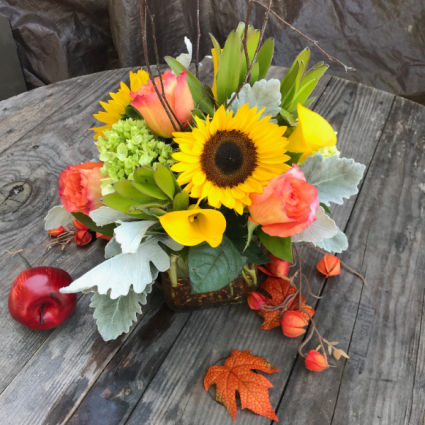 Harvest Sunset  vase