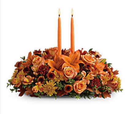 Family Centerpiece Thanksgiving Flowers