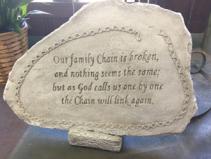Family Chain Memorial Stone