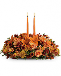 Family Gathering Centerpiece By Geno's Flowers Centerpiece