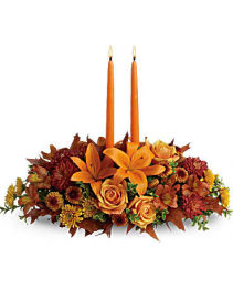 Family Gathering Centerpiece Fall Arrangement