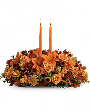 Family Gathering Fall Arrangement in Osceola Mills, PA | COLONIAL FLOWER & GIFT SHOP