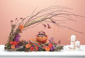 Family Grand Garden Memorial flowers, urn not included in Las Vegas, NV | AN OCTOPUS'S GARDEN