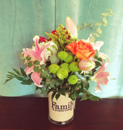 Family is Everything Vase Arrangement
