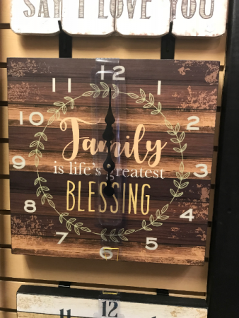 Family is the Greatest Blessing Clock