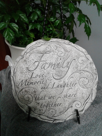 Family Love Plaque and Stand  Memorial Plaque